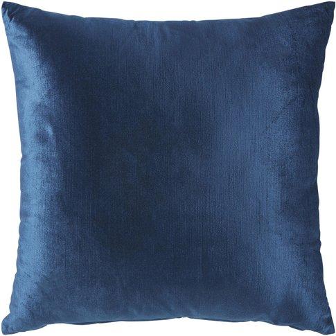 Sapphire Blue Velvet Cushion 45x45