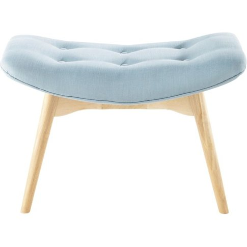 Scandinavian Blue Fabric Footstool/Pouffe Iceberg