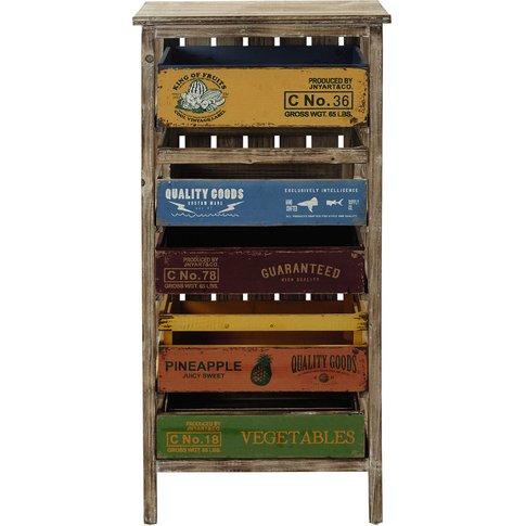Sergio Wooden Storage Unit, Multicoloured H 99cm