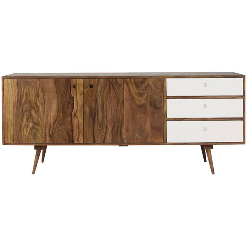 Sheesham 2-Door 3-Drawer Long Sideboard Andersen