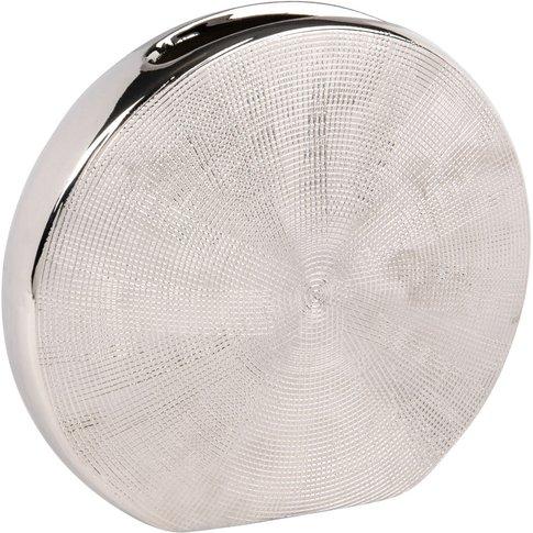 Silver Stoneware Moon Vase H21