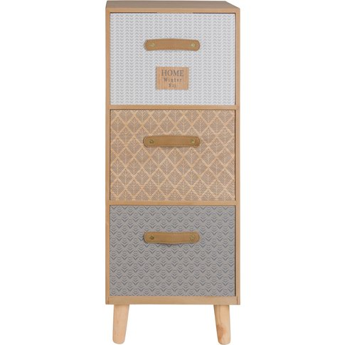 Small 3-Drawer Patterned Storage Unit