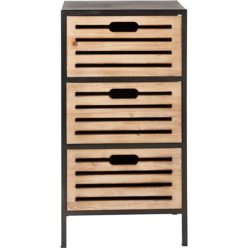 Small Metal 3-Drawer Storage Unit