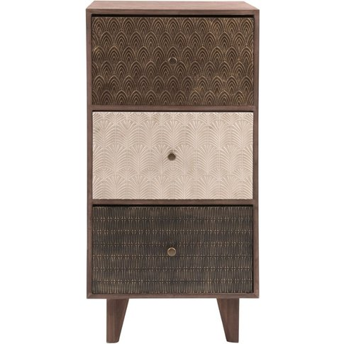 Small Patterned 3-Drawer Storage Unit
