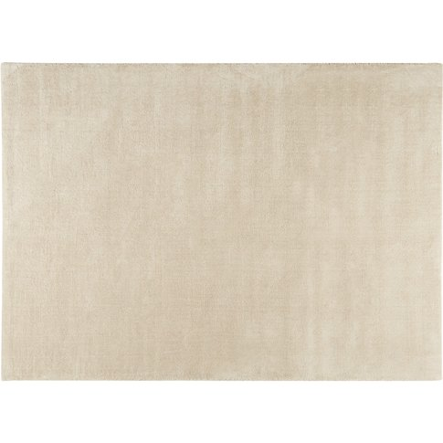 Soft Woollen Low Pile Rug In Beige 140 X 200cm