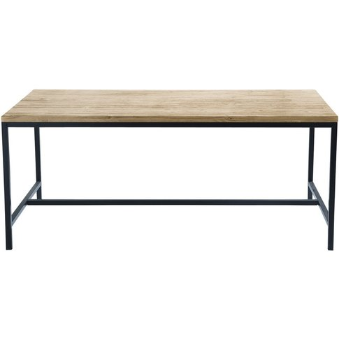 Solid Fir and Metal 6/8-Seater Industrial Dining Tab...