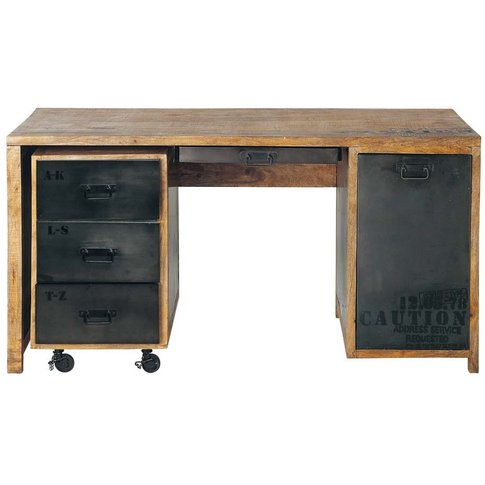 Solid mango wood and metal desk Manufacture