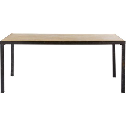 Solid Mango Wood Industrial 8-Seater Dining Table W ...