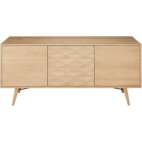 Solid Oak 3-Door Sideboard Keops