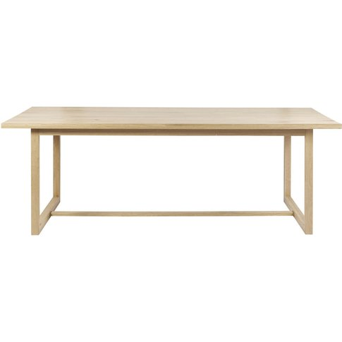 Solid Oak 6-8 Seater Dining Table W180 Sand