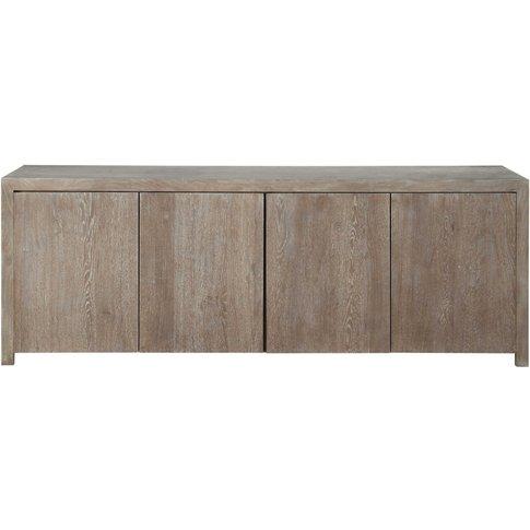 Solid Oak Sideboard W 210cm Baltic