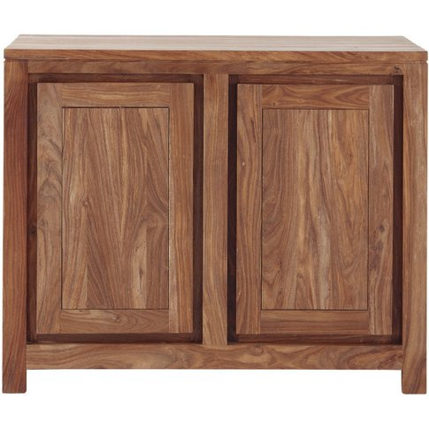 Solid Sheesham Wood 2-Door Sideboard Stockholm