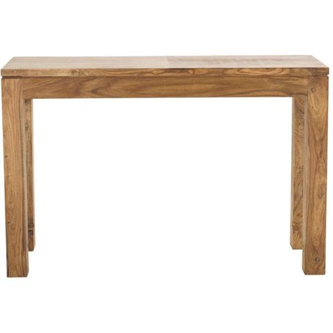 Solid Sheesham Wood Console Table W 120cm Stockholm