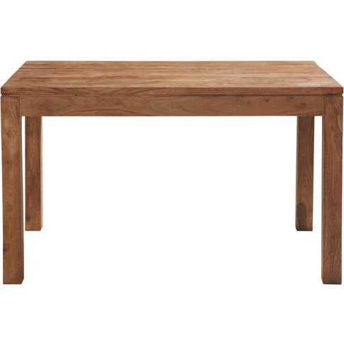 Solid Sheesham Wood Dining Table 6 persons L130 Stoc...