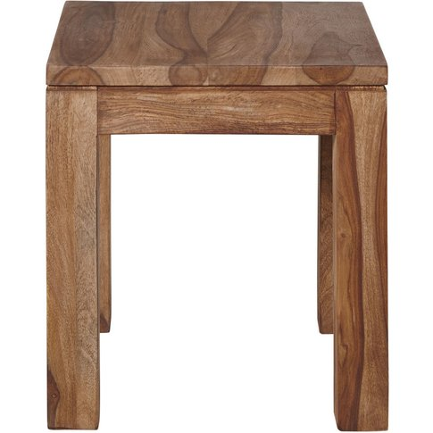 Solid Sheesham Wood Side Table Stockholm