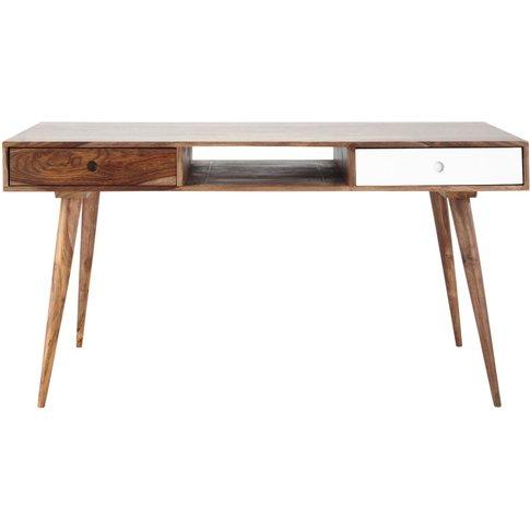 Solid Sheesham Wood Vintage Desk Andersen