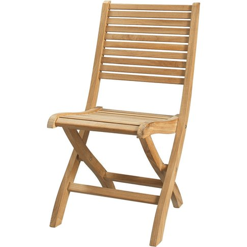 Solid Teak Folding Garden Chair Oléron