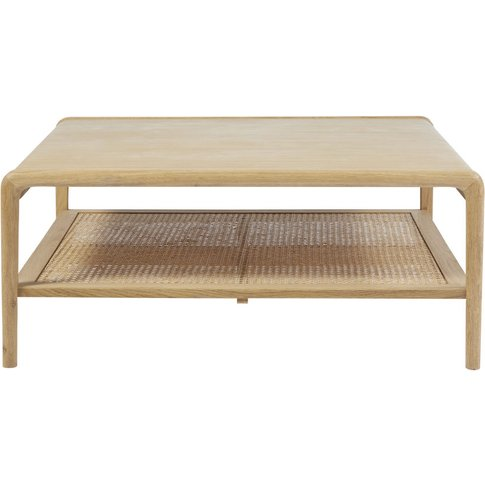 Square Coffee Table With Rattan Canopy
