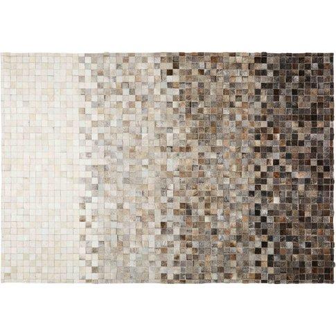 Squaru Cowhide And Wool Rug 160 X 230 Cm