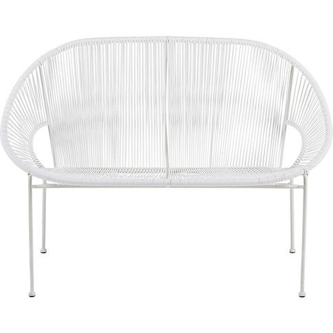 Stackable 2/3-seater garden bench in resin string an...