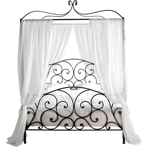 Steel 160 x 200 King Size Four-Poster Bed in Brown S...