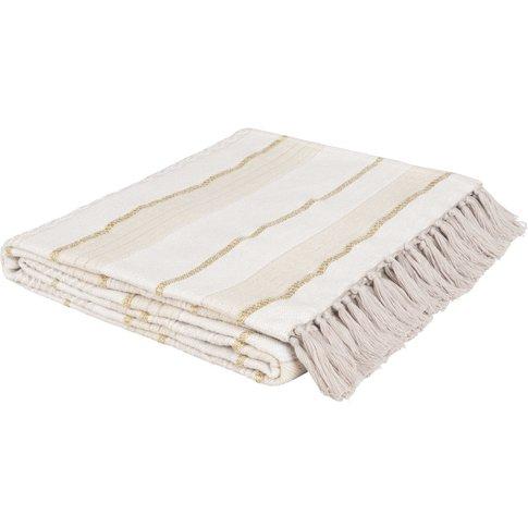 Striped Cotton Blanket 160x210