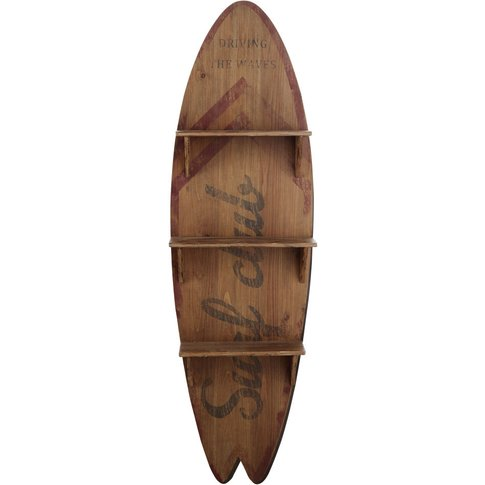 Surfboard Shelving Unit With Print