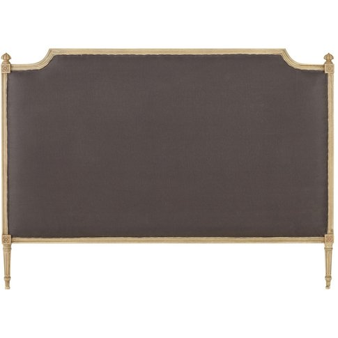 Taupe-Coloured Linen Headboard W160 Aline