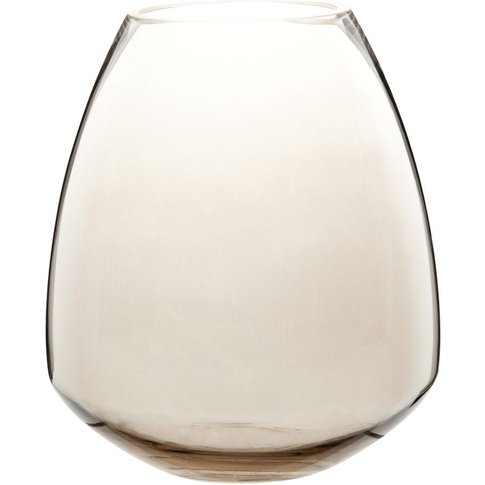 Taupe Tinted Glass Vase H20