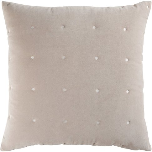 Taupe Velvet Quilted Cushion 60x60