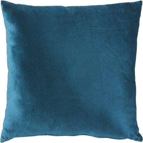 Teal Velvet Cushion 45x45