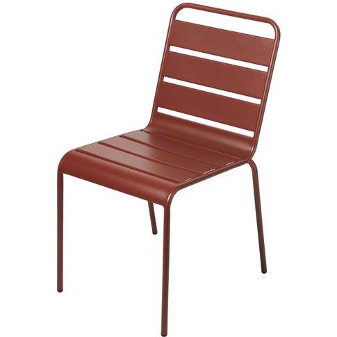 Terracotta Metal Garden Chair Batignolles