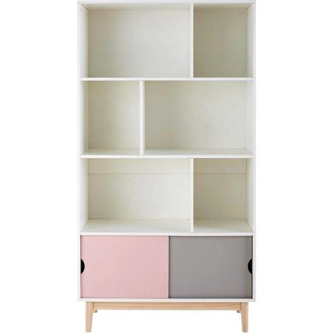 Three-Tone 2-Door Bookcase Blush