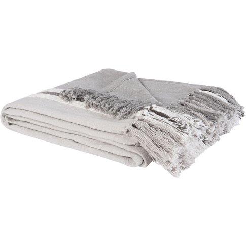 Three-Tone Cotton Blanket With Stripes 130x180
