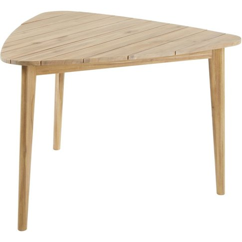 Triangular Solid Acacia 3-Seater Garden Table L110 M...
