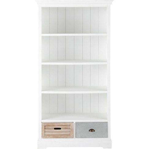 Tricoloured 2-Drawer Bookcase Ouessant