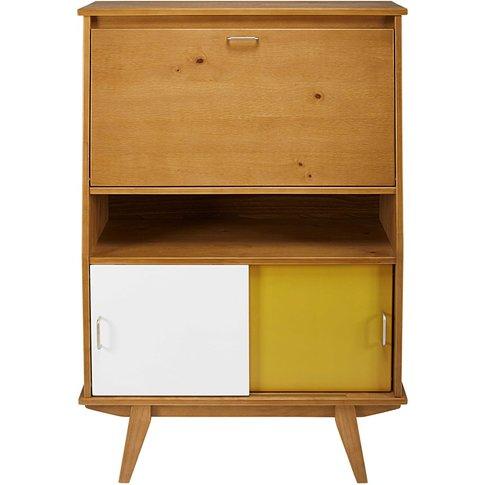 Tricoloured 3-door writing desk Paulette