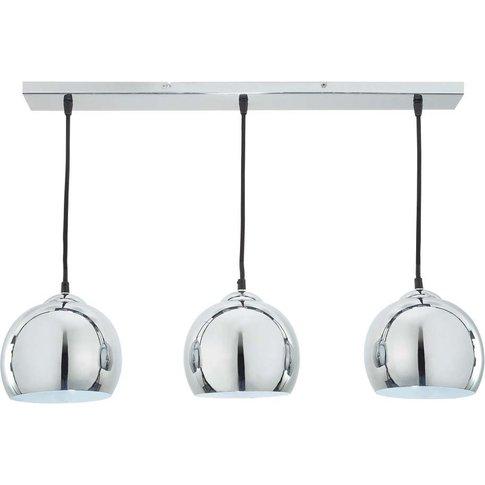 Trio Chrome-Plated Aluminium Triple Pendant Lamp