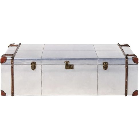 Truck Coffee Table In Studded Aluminium Cruse