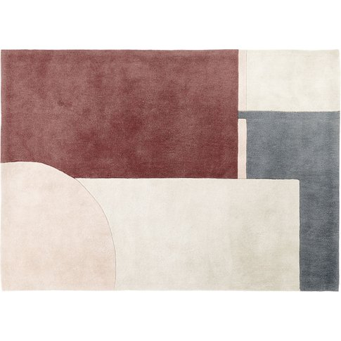 Tufted Rug With Multicoloured Graphic Print 140x200