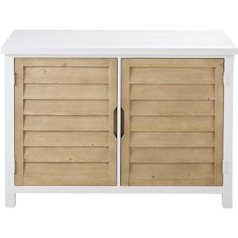 Two-Tone 2-Door Solid Spruce Sideboard Esterel