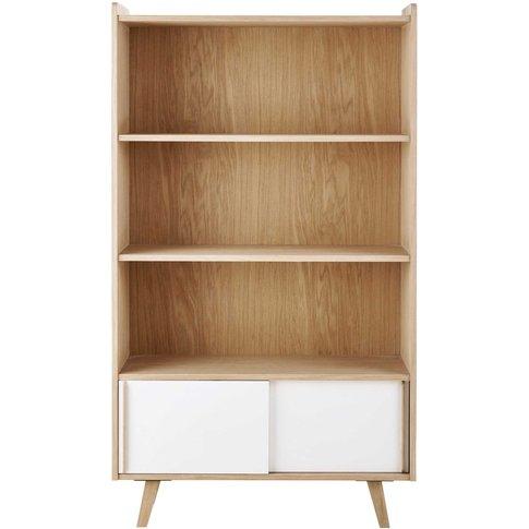 Two-Tone 2 Sliding Door Bookcase Alix
