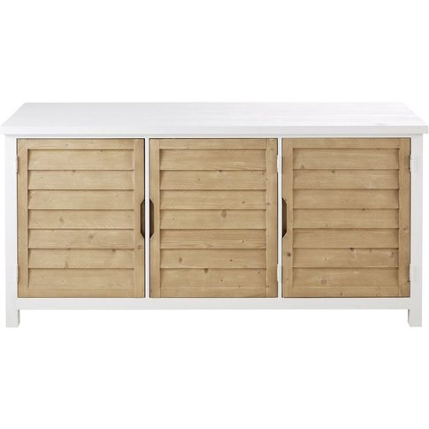 Two-Tone 3-Door Solid Spruce Sideboard Esterel