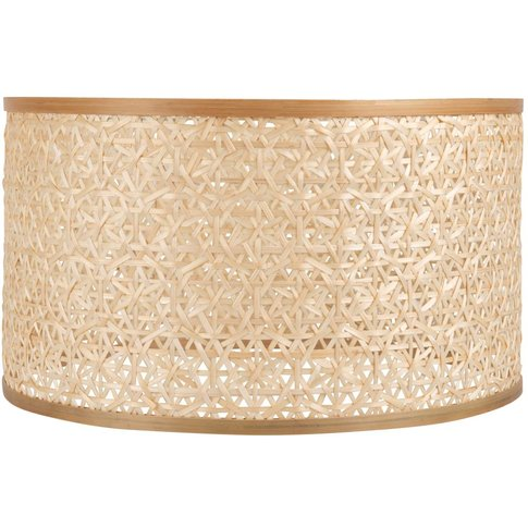 Two-Tone Bamboo Shade With Graphic Print