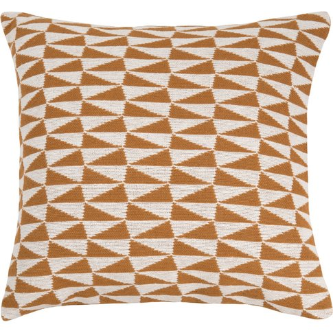 Two-Tone Cotton Cushion Cover With Graphic Print 45x45