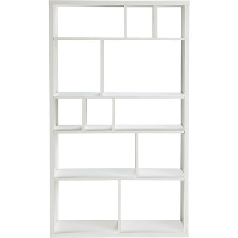 Unstructured White Bookcase Tonic