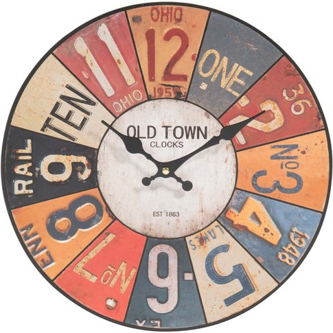 Usa Clock, D 34cm