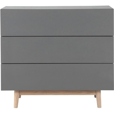 Vintage Chest Of Drawers In Grey Artic