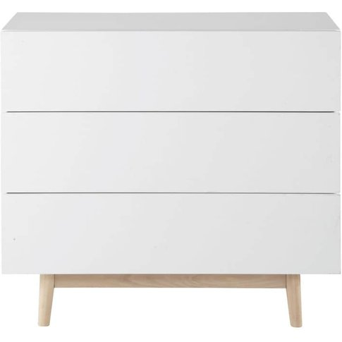 Vintage Chest Of Drawers In White Artic