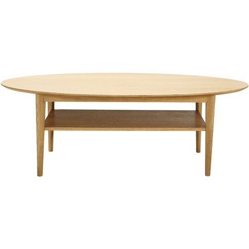 Vintage Oval Coffee Table Elwood